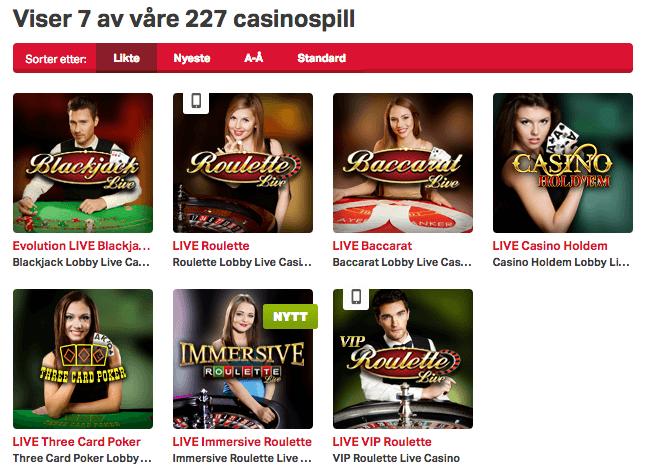 Har Mobilautomaten live Casino
