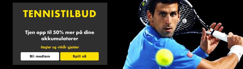 Tennis tilbud 50%