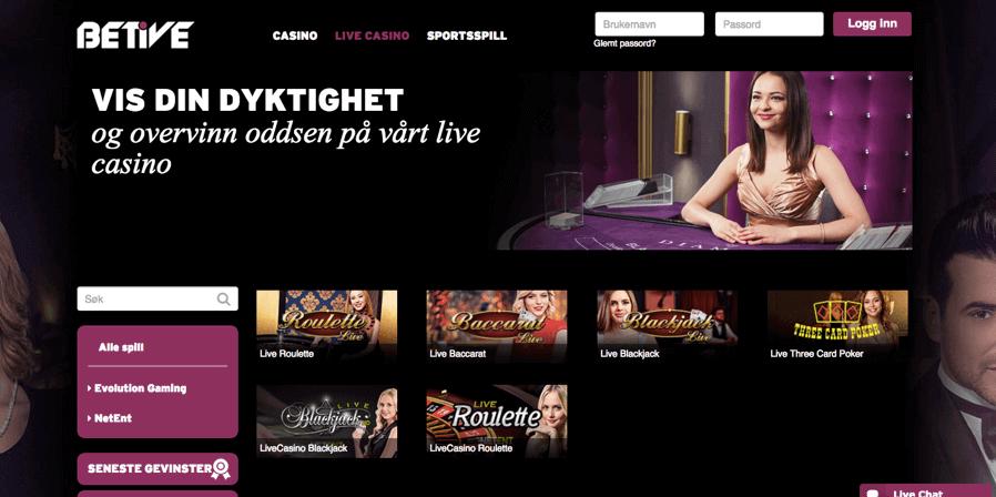 Betive Live Casino