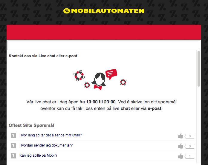 Har Mobilautomaten kundeservice