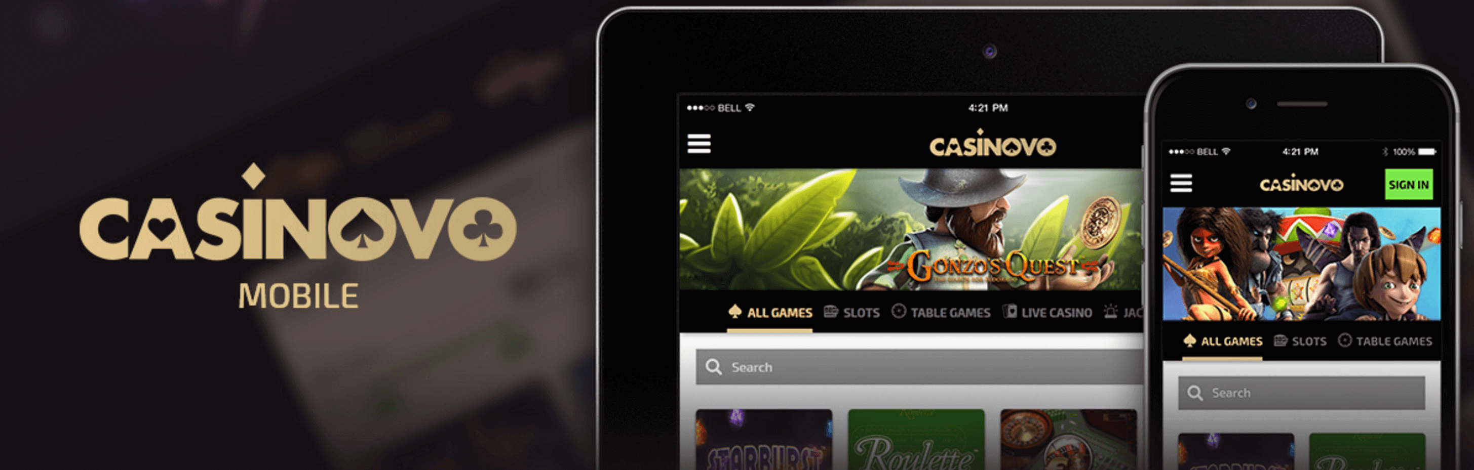 Casinovo mobile