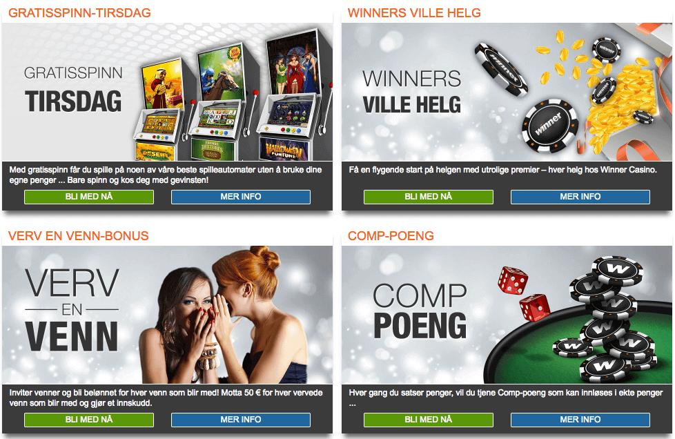 Bonuser og Kampanjer Winner Casino